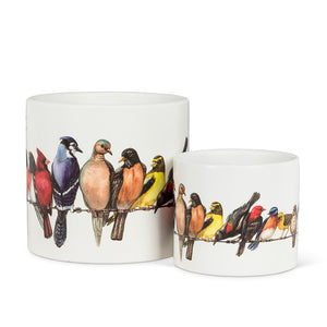Birds on Wire Planter (Small)