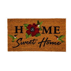 Home Sweet Home Hummingbirds Coir Mat