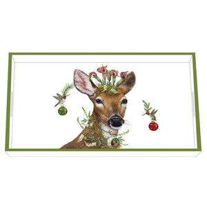 Christmas Princess Wood Lacquer Vanity Tray