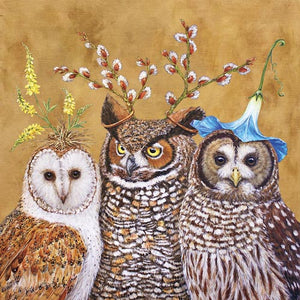 Owl Family Beverage Napkins