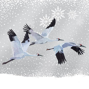 Snowfall Cranes Lunch Napkins