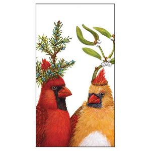 Cardinals Holiday Party Guest Towels / Buffet Napkins