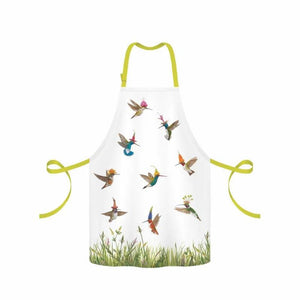 Meadow Buzz Apron decorated with Hummingbirds