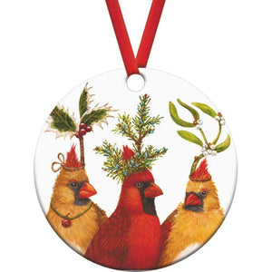 Gift-Boxed Cardinal Holiday Party Ornament by Vicki Sawyer