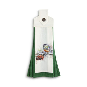 Dean Crouser Chickadee Button Loop Tea Towel