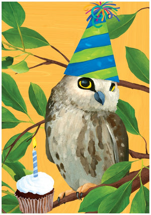 Hoot Owl Birthday Greeting Card
