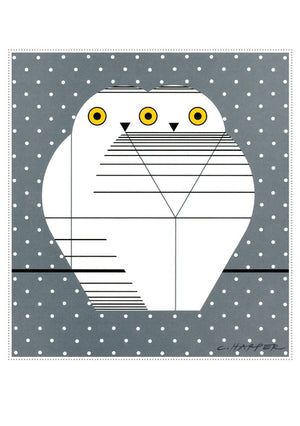 Sample two owls card from Charley Harper Holiday Card Assortment