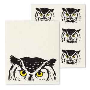 The Amazing Swedish Peeking Owl Dishcloths (Set of 2)