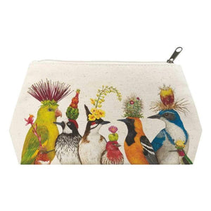 "The Entourage Canvas Cosmetic Bag LARGE: 12"" x 6.75"" x 4.75"""