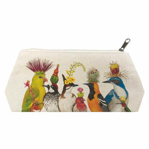 The Entourage Canvas Cosmetic Bag MEDIUM:  9.75″ x 4.75″ x 3″