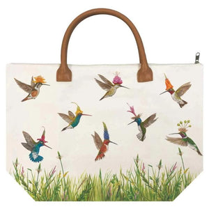 "Meadow Buzz Canvas Tote Bag Size: 17.75"" x 12"" x 6.75"""