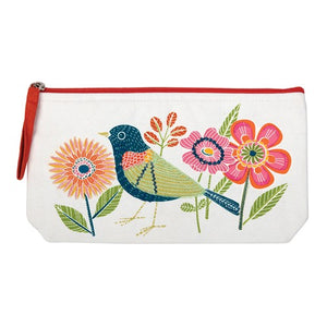 Avian Friends Handmade 100% cotton Pouch Cosmetic Bag