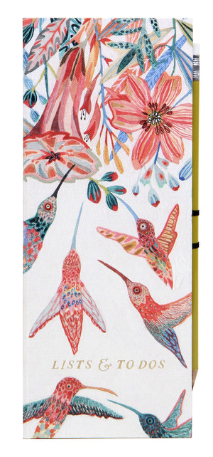 Hummingbird Lists & To Do's with Coordinating Pencil