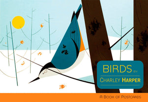Birds by Charley Harper Book of Postcards - 30 Color Card Collection