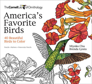 America's Favorite Birds Coloring Book which offers illustrations of 40 Beautiful Birds to Color