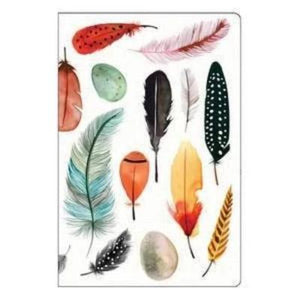Front Cover of Colorful Feathers Mini Notebook included in this Set