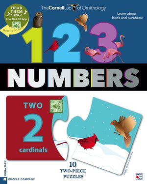 Bird Numbers Two Piece Puzzles