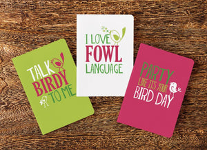 "Bird Nerd ""Birds of a Feather"" Journals (Set of 3)"