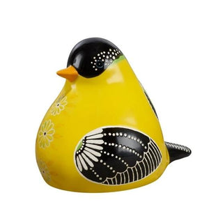 Bird Song Collection yellow Goldfinch Decorative Figurine