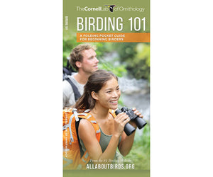 Birding 101 Folding Pocket Guide for Beginning Birders