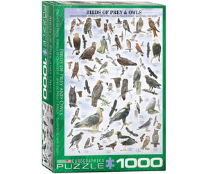 Birds of Prey and Owls 1000 Piece Puzzle