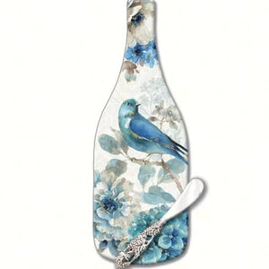 Ingugold Blue Songbird Cheese Server