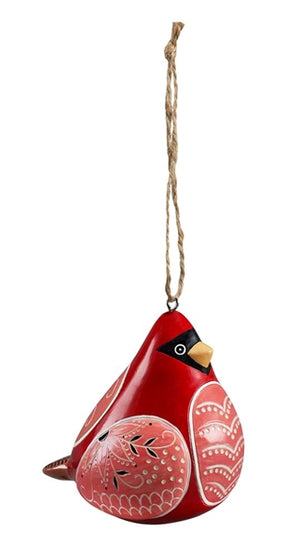 Bird Song Collection Red Cardinal Ornament side view