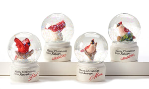 Mini Christmas Cardinal Snow Globe - 4 assorted designs
