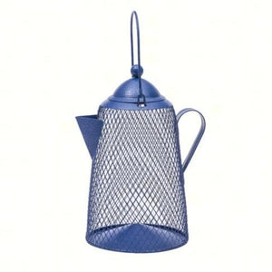 Coffee Pot Mesh Bird Feeder