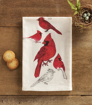 Male Cardinal Towel
