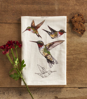 Ruby-Throated Hummingbird Towel