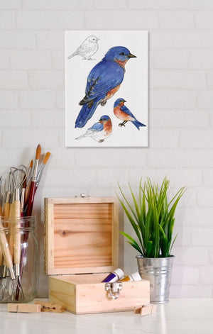 Bluebird 5x7 Canvas Wall Art