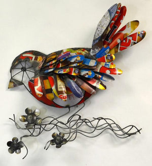 Recycled Metal Songbird