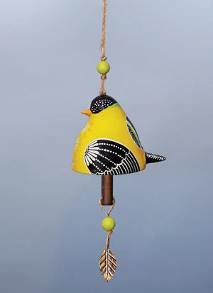 Bird Song Collection Goldfinch Ceramic Bell