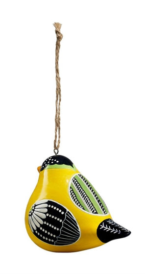 Bird Song Collection Goldfinch Ornament rear view