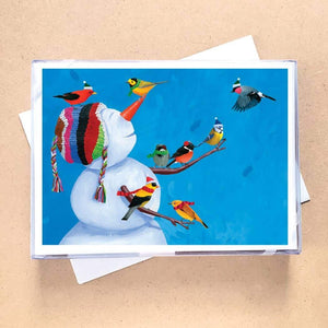 Birdies & Snowman Greeting Card Holiday Boxed Set - 15 Cards