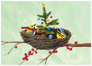 Birds Nest Holiday Greeting Card