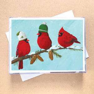Three Cardinals Greeting Card Holiday Boxed Set - 15 Cards