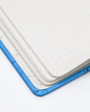 Close-up image of Dot Grid Paper in the Birds Hardcover Notebook