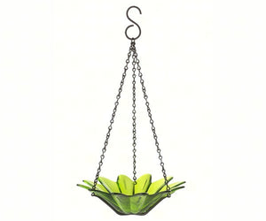 8 inch Daisy hanging bird feeder - Lime color