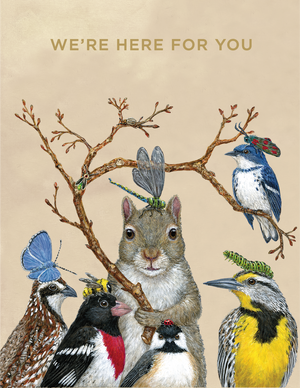 We are here for you greeting card