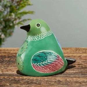 Bird Song Collection Hummingbird Ceramic Figurine on wooden tabletop