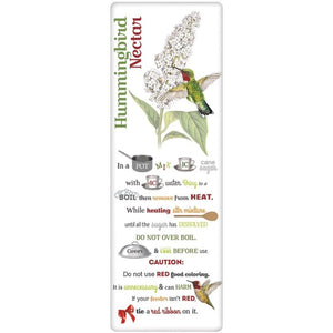 Butterfly Bush & Hummingbird Nectar Recipe Towel