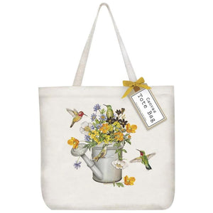 Hummingbird & Watering Can Tote Bag