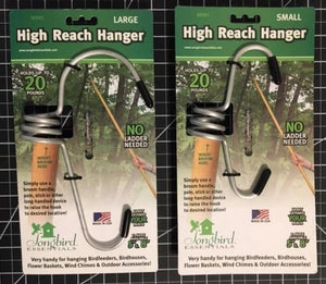 Image of the Large 8 inch high reach hanger compared to the Small 5 inch high reach hanger