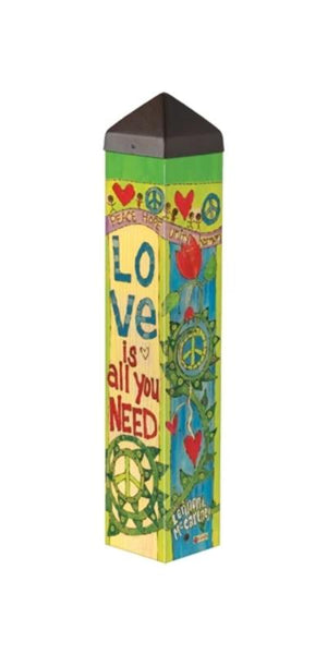 "Love is All You Need 20"" Art Pole"
