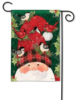 Lumberjack Santa Holiday Garden Flag