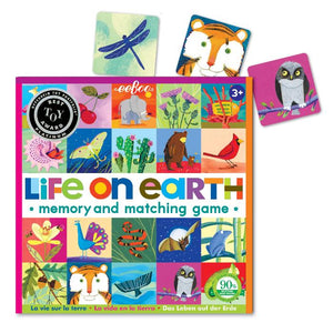 Life on Earth Memory and Matching Game showing some sample game pieces