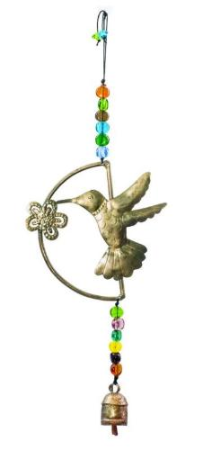 Hummingbird Sense of Smell Windchime - Glass Beads & NANA Bell