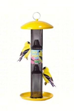 Yellow Straight Sided Finch Feeder